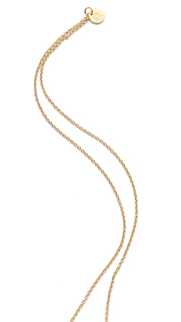 House of Harlow 1960 White Sand Sunburst Necklace