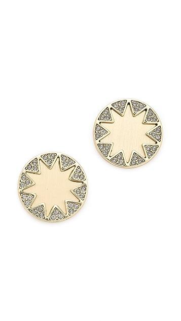 House of Harlow 1960 Earth Metal Sunburst Stud Earrings