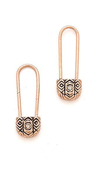 House of Harlow 1960 Petite Safety Pin Earrings