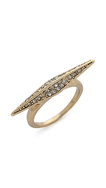 House of Harlow 1960 Sparkling Marquis Ring