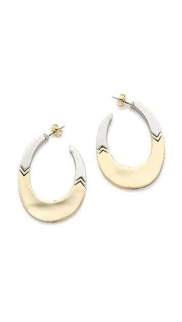 House of Harlow 1960 Modern Tribal Hoop Earrings