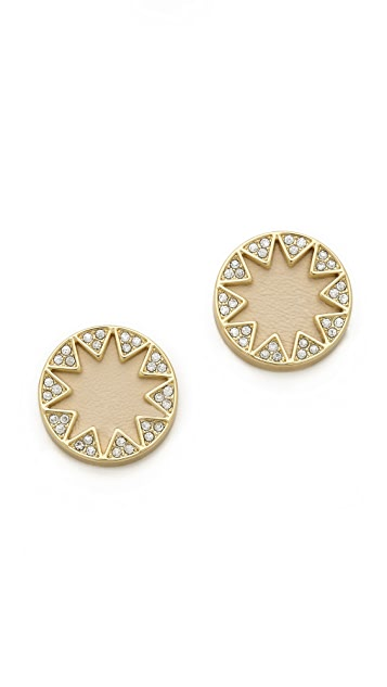 House of Harlow 1960 Suburst Pave Earrings