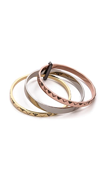 House of Harlow 1960 Santorini Stack Bangle Set