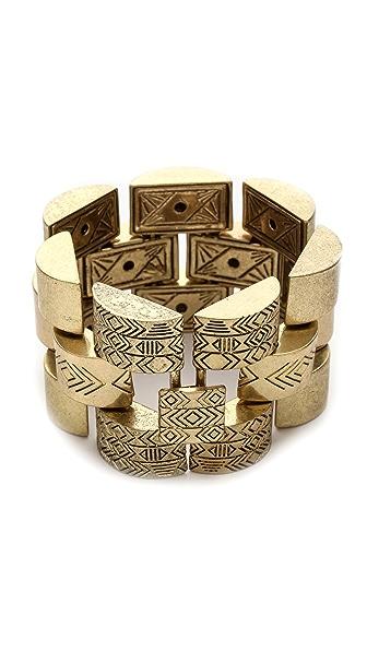 House of Harlow 1960 Warrior Tiles Link Bracelet