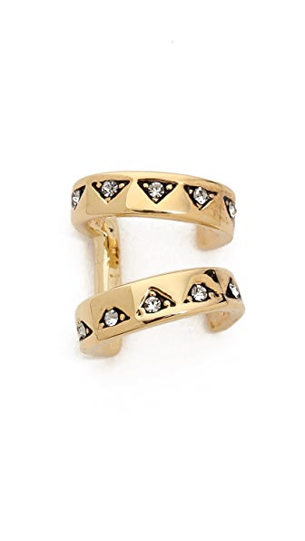 House of Harlow 1960 Engraved 2 Ring Ear Cuff