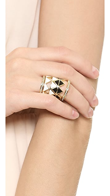 House of Harlow 1960 Reflector Ring Stack Set