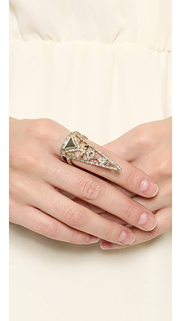 House of Harlow 1960 Tres Triple Finger Ring