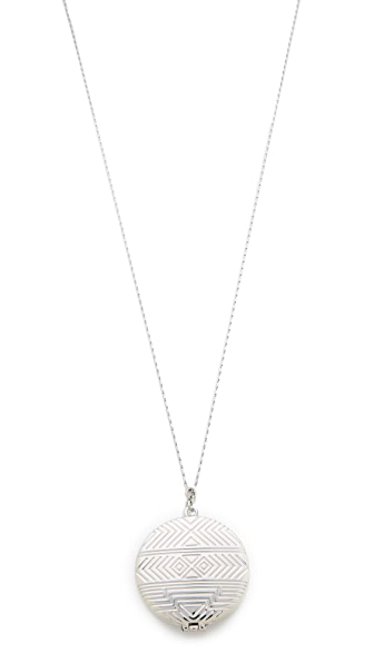 House Of Harlow 1960 Medallion Locket Necklace - Silver