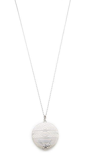 House of Harlow 1960 Medallion Locket Necklace
