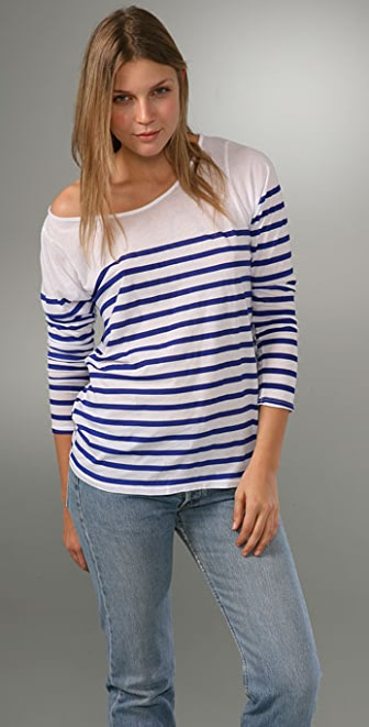 MONROW Striped Tee