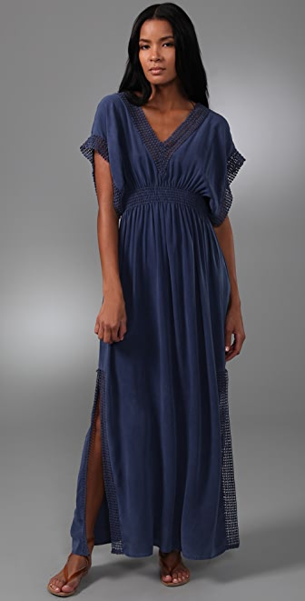MONROW Fiesta V Neck Long Dress