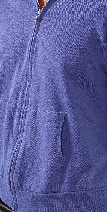 MONROW Fleece Zip Up Hoodie