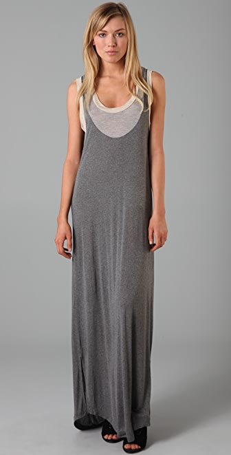 MONROW Contrast Tank Long Dress
