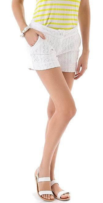 MONROW Diamond Pointelle Shorts