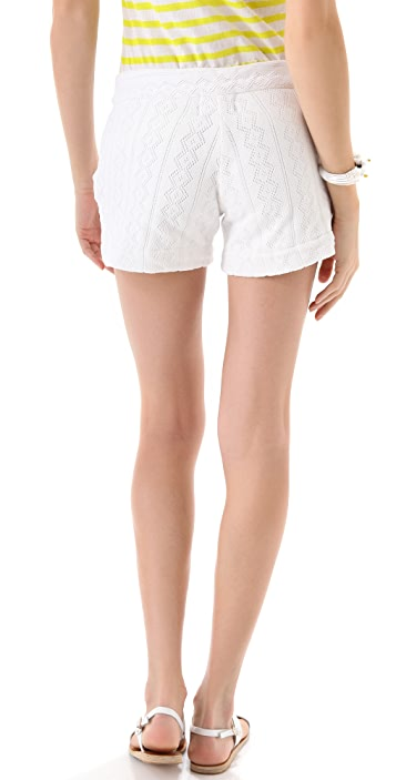 MONROW Diamond Pointelle Shorts