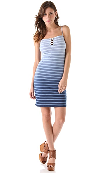 MONROW French Stripe Lace Dress
