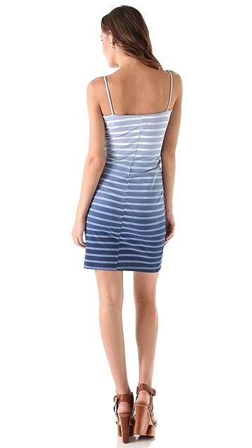 MONROW French Stripe Lace Dress