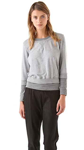 MONROW Layered Double Crew Pullover