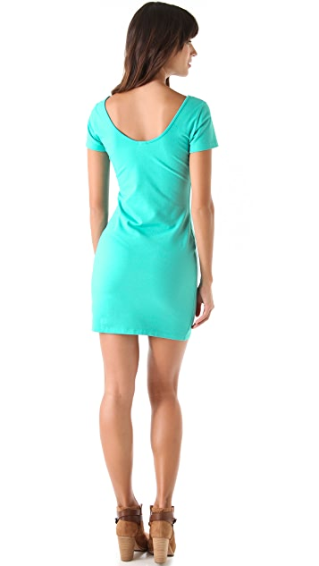 MONROW Double Scoop Tee Dress