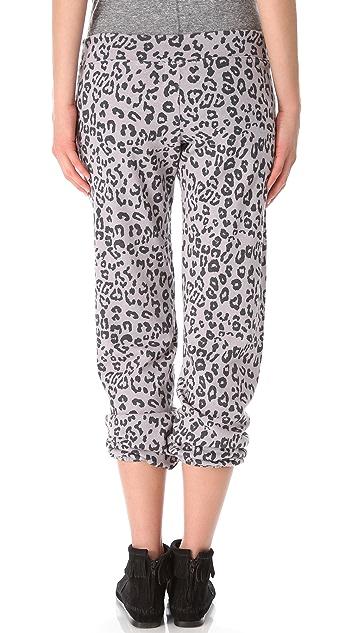MONROW Leopard Vintage Sweatpants