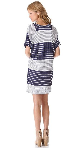 MONROW Mixed Stripe Raglan Dress