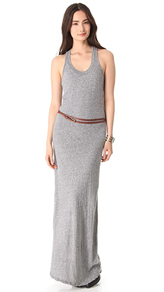 MONROW Granite Jersey Maxi Dress