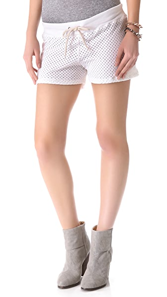 MONROW Open Knit Shorts
