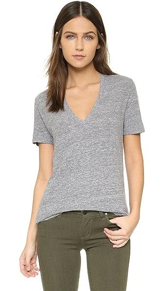MONROW Свободная футболка с V-образным вырезом
