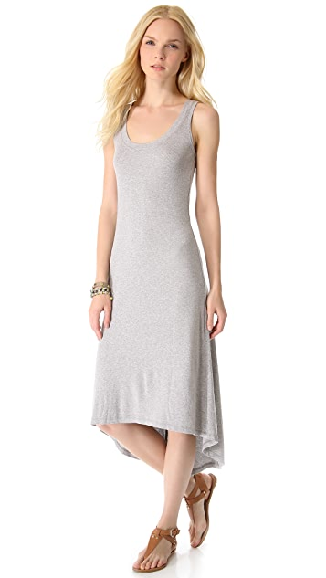 MONROW Rib Basics Gusset Tank Dress