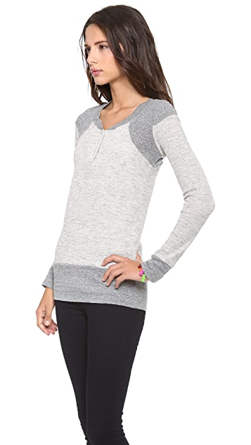 MONROW Thermal Waffle Henley Top