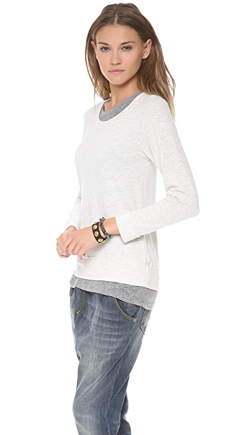 MONROW Soft Layered Fleece Sweatshirt