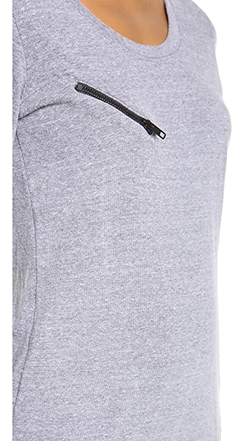 MONROW Moto Fleece Sweatshirt