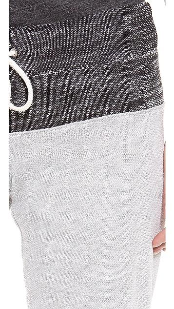 MONROW Luxe Two Tone Sweatpants