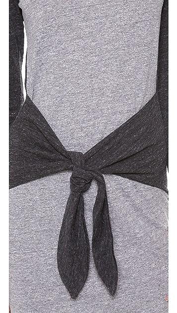 MONROW Half & Half Wrap Dress