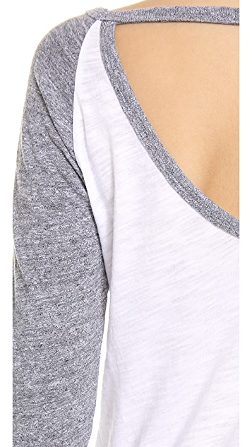 MONROW Open Back Rock Tee