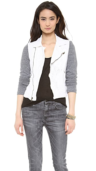 MONROW Colorblock Moto Jacket