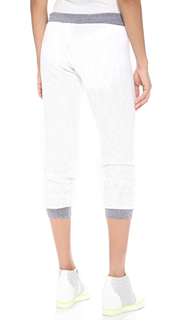 MONROW Lace Colorblock Sweats