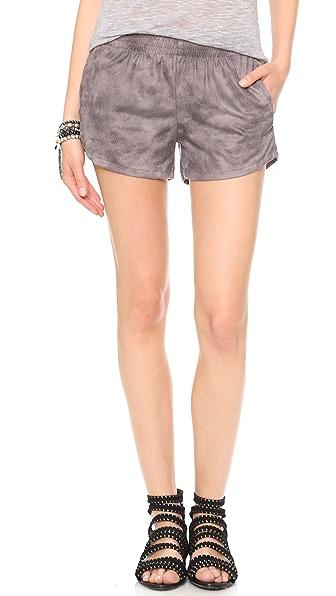MONROW Leather Shorts