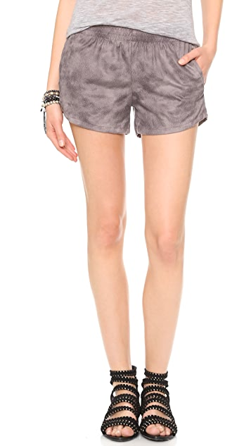 MONROW Leather Shorts