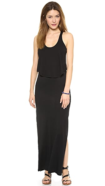 MONROW Double Crop Maxi Dress