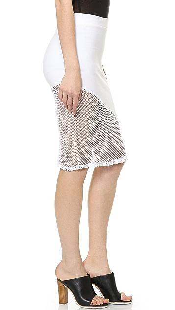 MONROW Fishnet Skirt
