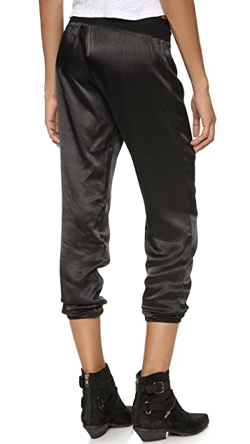 MONROW Satin Rayon Sweatpants