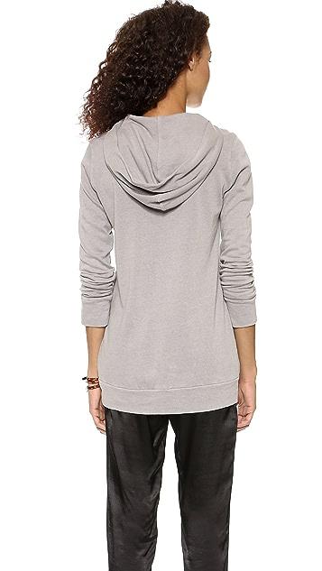 MONROW Vintage Oversized Hooded Sweatshirt