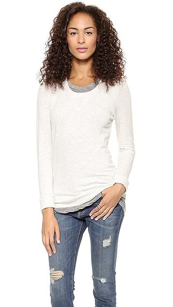 MONROW Layered Sweatshirt