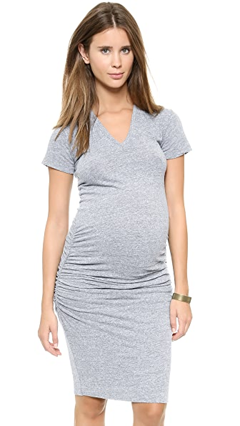 MONROW Присборенное платье-футболка для беременных