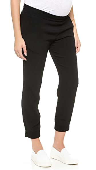 Maternity Crepe Skinny Sweats in Black