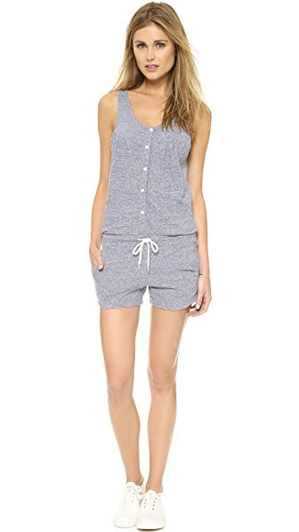 MONROW Button Front Romper