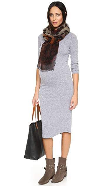 MONROW Maternity Long Sleeve Dress