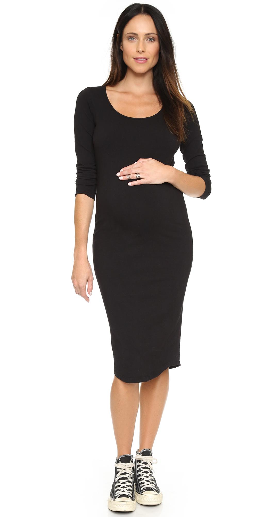 Monrow maternity long sleeve dress shopbop monrow maternity long sleeve dress ombrellifo Image collections