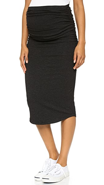 MONROW Maternity Skirt - Black